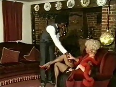 Vintage interracial sex with blonde milf