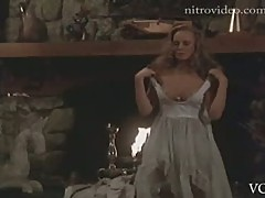 Naturally Busty Retro Blonde Jennifer Cooke Strips In a Hot Scene