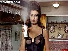 Worlds Hottest Vintage Celebrity Sophia Loren Wearing Tight Lingerie