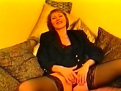 Mature brunette bitch DPed and loved it