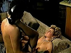 Wild crazy blond whore in extreme pussy heat
