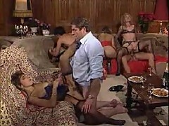 Crazy vintage orgy is for your delight