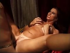 Hot Tanned Brunette Has A Harem Of Dicks Waiting To Please Her