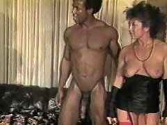 Filthy brunette hussy creamed by Black cock