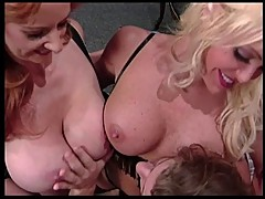 Classic Cougars Roxy Rider and Houston Threesome