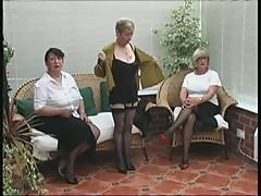 Vintage Stripping from three Mature Village Ladies