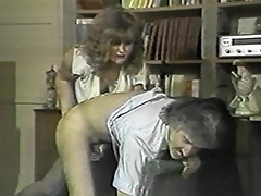 Nasty slut spanks studs arse, and rides cock
