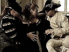 Glamorous noble people fuck in a mansion in group sex