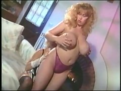 Retro French maid nipple sucking lesbian fun