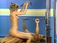 Retro gym sex with pussy licking