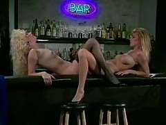 Danielle Rodgers & Melanie Moore Have Lesbian Sex On Bar