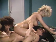 Peter North with Amber Lynn and Tiffa...
