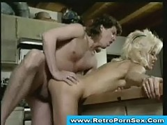 Tom byron fucks a blonde milf in 1980s retro porn movie